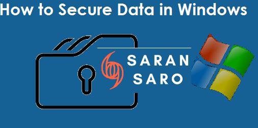 Secure data in Windows