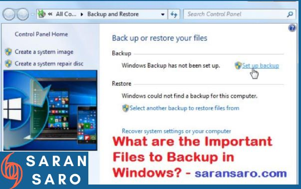 Files to backup in Windows