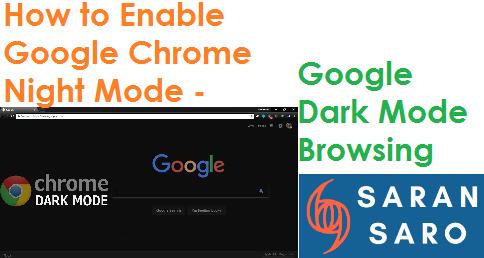 Google chrome night mode