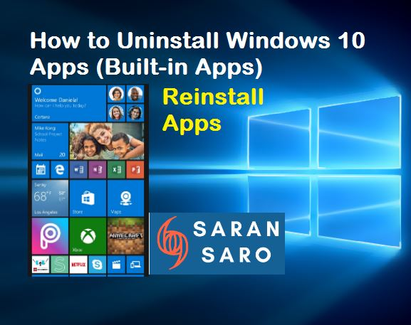 Uninstall Windows 10 Apps