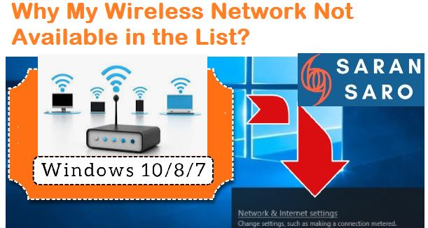 Wireless network not available in the list