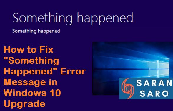 fix something happened error
