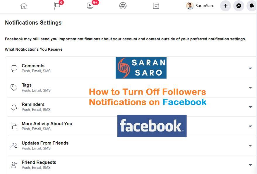 turn off facebook followers