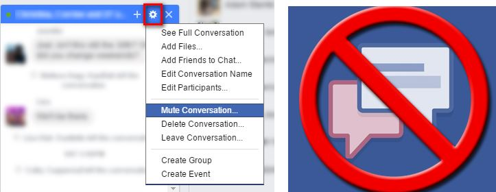 how to mute facebook conversation