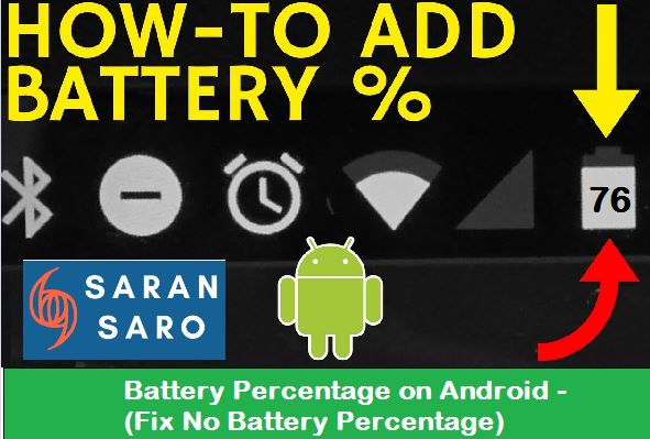 battery percentage on Android