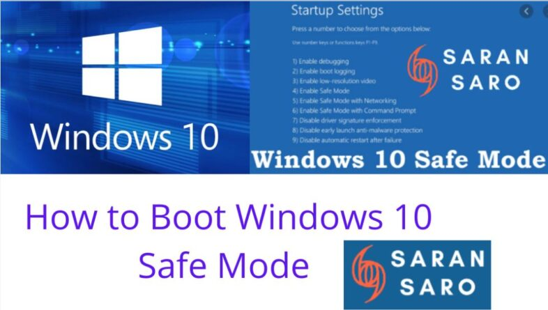 how to boot windows 10 safe mode