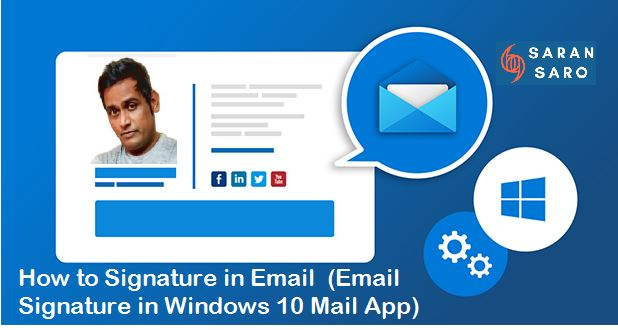 how to signature in email