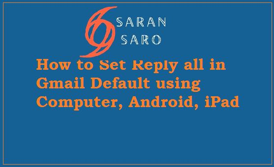 reply all in gmail