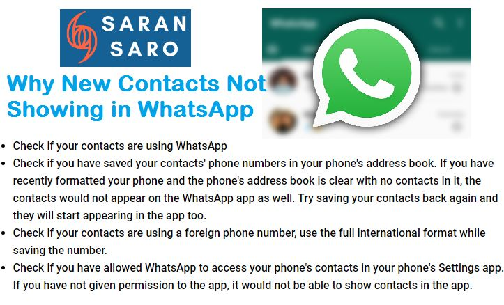 Contacts Not Showing in WhatsApp