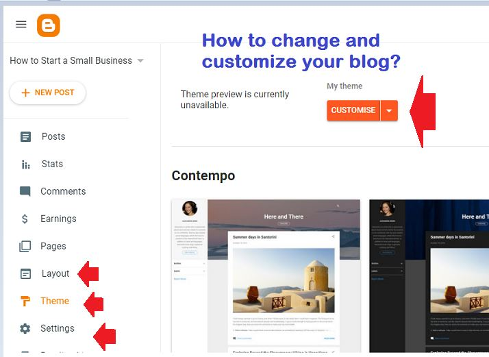 how to customize blogspot blog