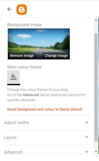 theme customization in blogger