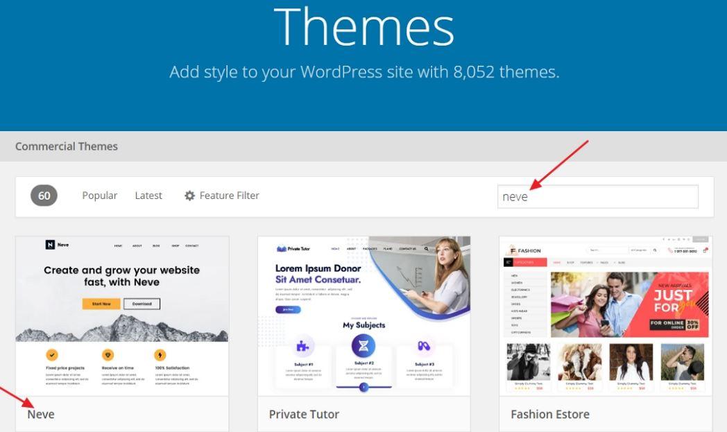 WordPress Neve Theme