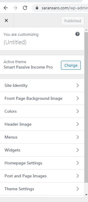 customize theme for your site