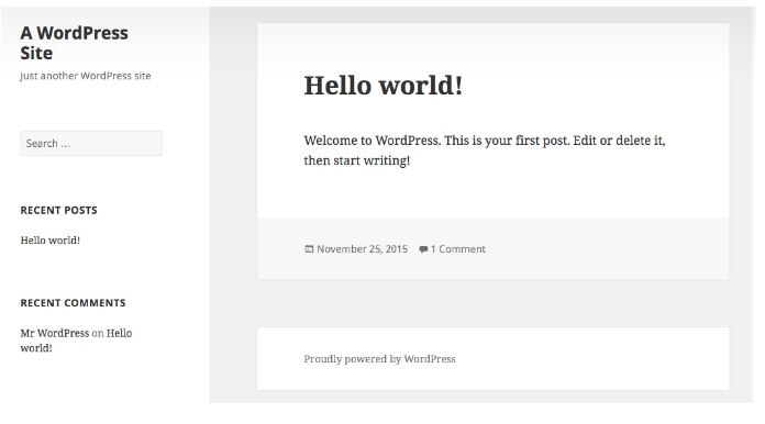 creating a blog hello world