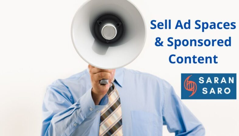 earn from selling ad spaces