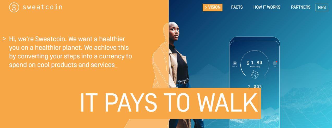 sweatcoin walking apps
