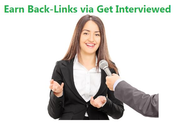 Get backlinks from get interviewed