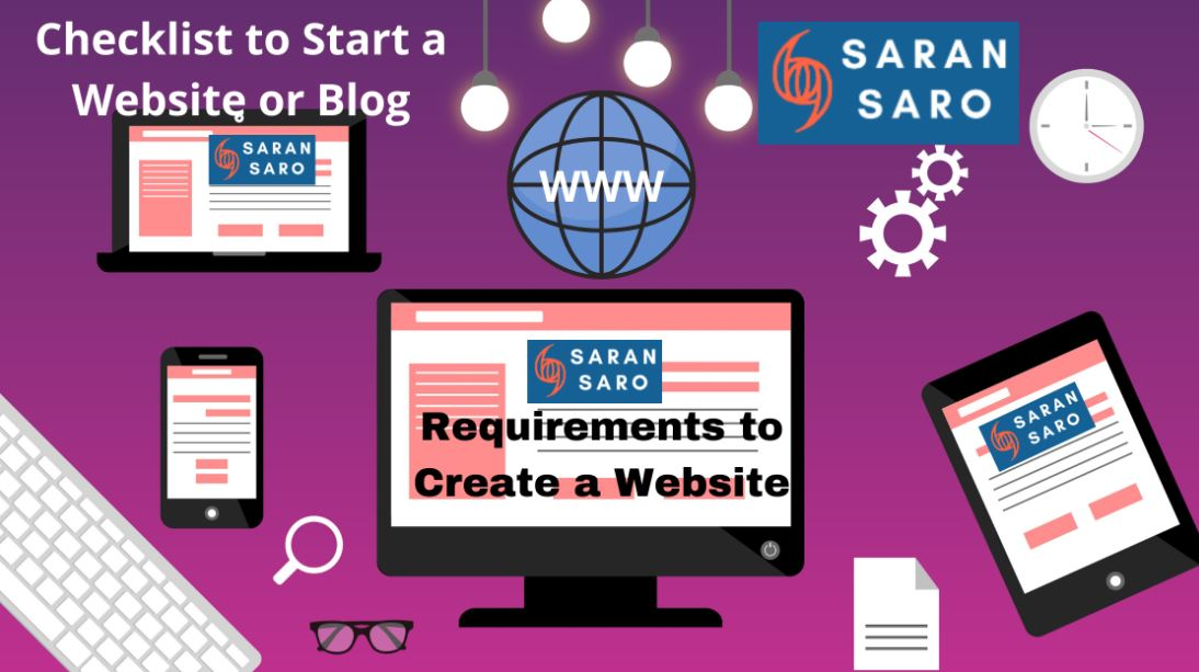Requirements to create a website