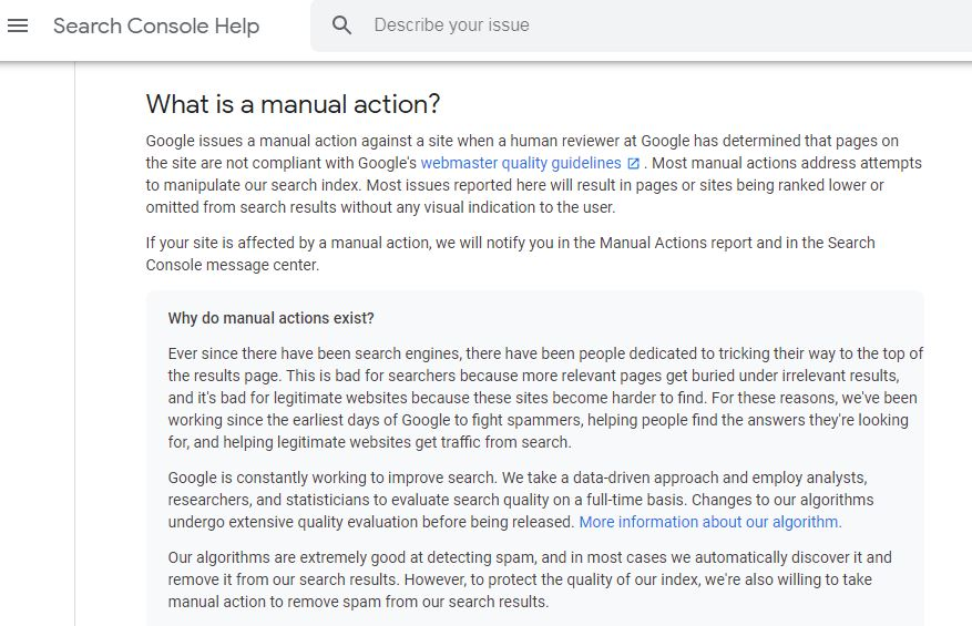 What is manual action