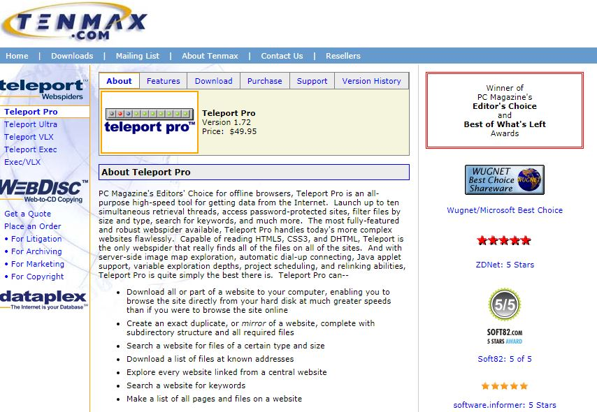 teleport simple ways to download a website