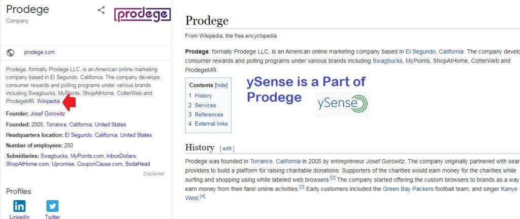 ySense is a legit survey site from prodege