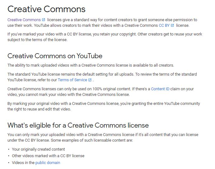 Creative Commons on YouTube
