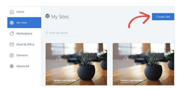 create a site on WordPress