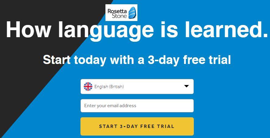 Free app for learning English - Rosetta Stone