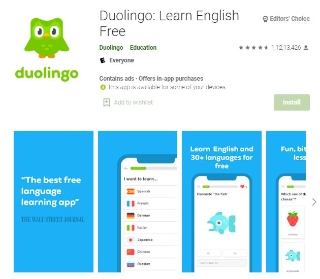 Learn English Free - Duolingo