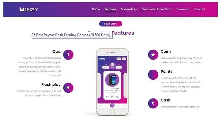 Winzy paytm cash app