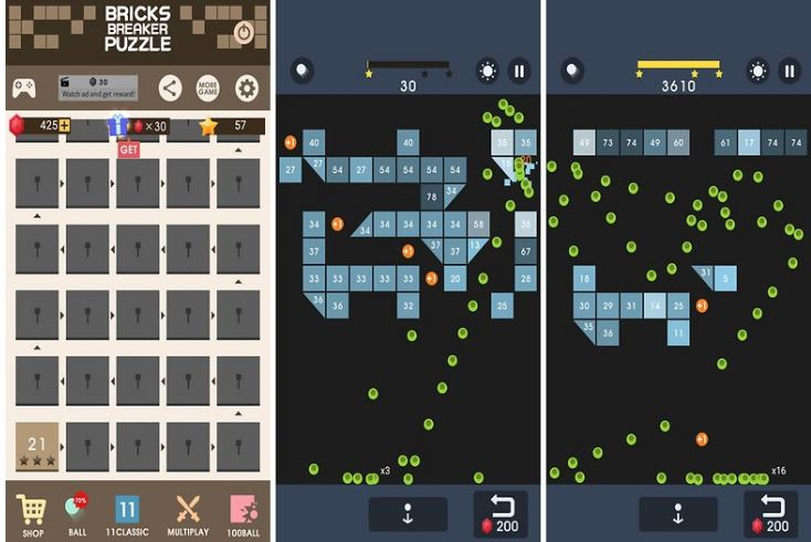 Bricks Breaker Puzzle offline games without internet